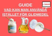 Vad kan man använda istället för glidmedel