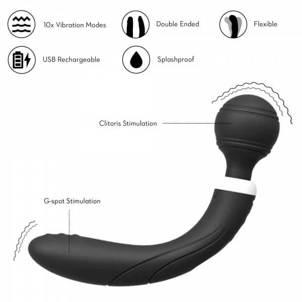 curve wand black