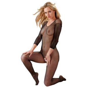 mandy mystery net catsuit with sleeves
