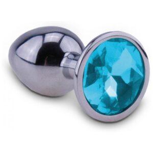 relaxxxx silver starter butt plug blue small