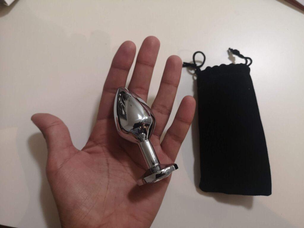 Pleasure steel buttplug
