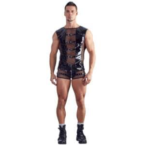 black level lak t shirt med net mænd