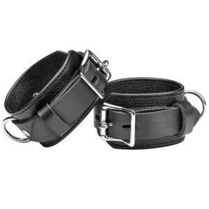 strict leather deluxe låsbare håndleds manchetter