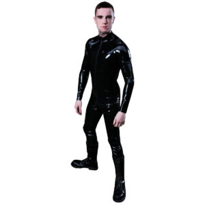 mister b rubber full body suit with zipper